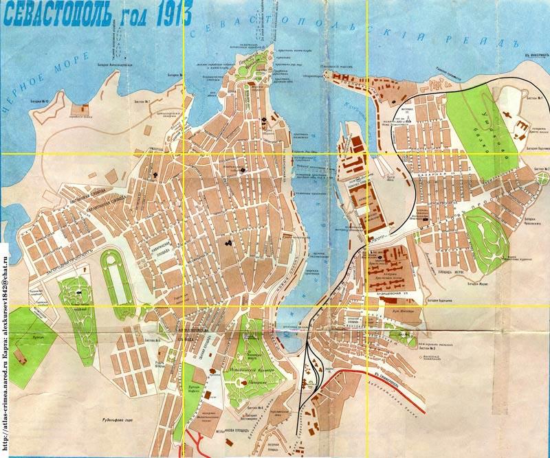 Карта Севастополя 1913год