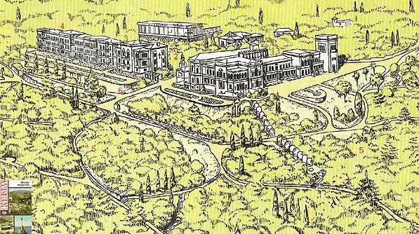 Схема Ливадийского двореца и